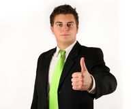 Businessman OK Royalty Free Stock Photography