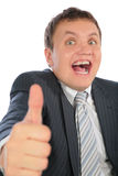Businessman with ok gesture Royalty Free Stock Photography