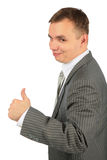 Businessman with ok gesture Stock Photos