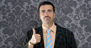 Businessman ok positive hand gesture Stock Photos