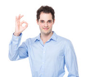 Businessman with ok sign Royalty Free Stock Photo
