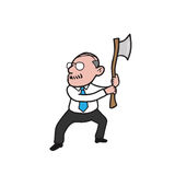 Businessman old axe royalty free illustration
