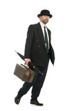 Businessman with an old bag Royalty Free Stock Photo