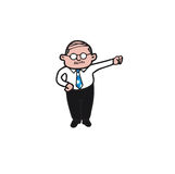 Businessman old royalty free illustration