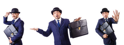 The businessman in old style hat Royalty Free Stock Image