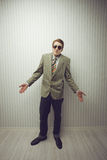 Businessman old style Royalty Free Stock Photography