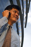 Businessman On Cell Phone Royalty Free Stock Images