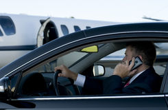 Free Businessman On Cell Phone In Luxury Car Stock Image - 10417991