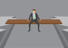 Free Businessman On Risky Position Conceptual Vector Illustration Stock Images - 72334704