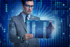 The businessman in online trading concept Stock Photos