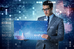 The businessman in online trading concept Stock Photography