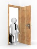 Businessman in open door Stock Photography