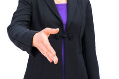 Businessman with open hand Stock Photography