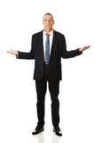 Businessman with open hands Stock Image