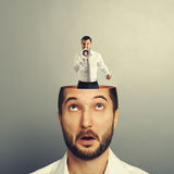 Businessman with open head Royalty Free Stock Photo