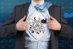 Businessman open his shirt Stock Photography