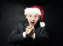 Businessman with Open Mouth. Delight and Fun Stock Photography