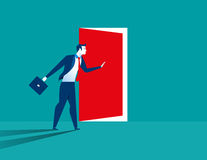 Businessman opening door Royalty Free Stock Images