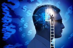 The businessman opening door to artificial intelligence stock photos