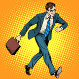 Businessman optimist goes to work Stock Photography