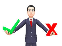 Businessman With Options Means Voting Decision And Commercial Stock Photography