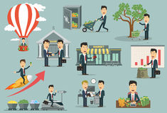 Free Businessman Or Manager Interacting With Money Royalty Free Stock Image - 72911226