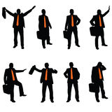 Businessman with an orange tie Royalty Free Stock Image