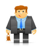 Businessman origami toy Royalty Free Stock Photos