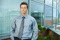 Businessman outdoor Stock Image