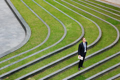 Businessman Outdoor Corporate Waiting Concept Royalty Free Stock Images