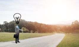Man of creative ideas Royalty Free Stock Photography