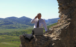 Businessman outdoors Royalty Free Stock Photos