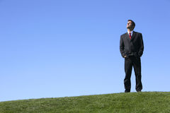 Businessman outdoors Stock Image