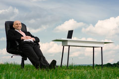 Businessman outdoors Royalty Free Stock Image