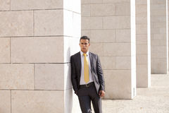 Businessman outside Royalty Free Stock Photo