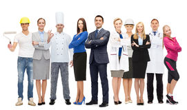 Free Businessman Over Different Professional Workers Royalty Free Stock Photos - 72014718