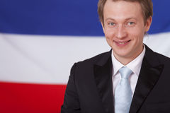 Businessman over netherlands flag Royalty Free Stock Photography