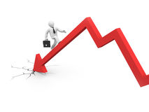 The businessman overcome financial crisis Royalty Free Stock Photos