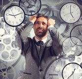 Businessman overload appointments Royalty Free Stock Photos