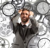 Businessman overload appointments Stock Photo