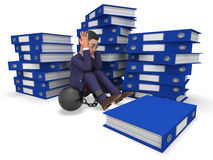 Businessman Overload Work Represents Overloading Burden And Answer Royalty Free Stock Photos