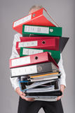 Businessman overloaded concept Royalty Free Stock Images