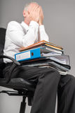 Businessman overloaded concept Stock Photos