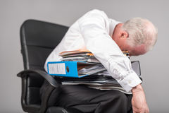 Businessman overloaded concept Royalty Free Stock Image