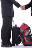 Businessman oversea busineess shake hand with partner Stock Image