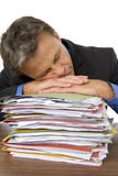 Businessman Overwhelmed By Paperwork Stock Image