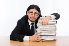Businessman overwhelmed and stressed from Stock Images