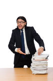 Businessman overwhelmed and stressed from Royalty Free Stock Photography