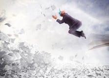 Businessman overworked Stock Photos