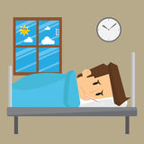 Businessman overworked, patient hospital stay Royalty Free Stock Image